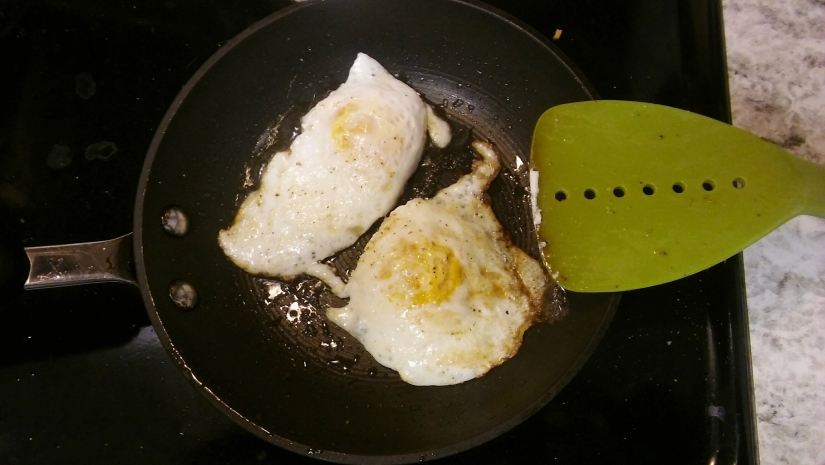 slow morning calls for fried eggs
