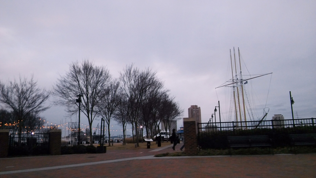 cloudy morning in Norfolk, VA