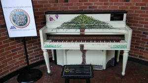 piano outside The King Center